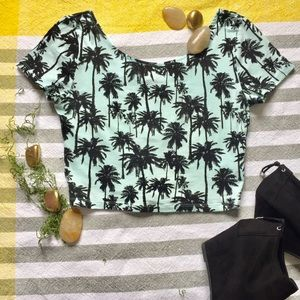 H&M Small Crop Tom, Palm Trees